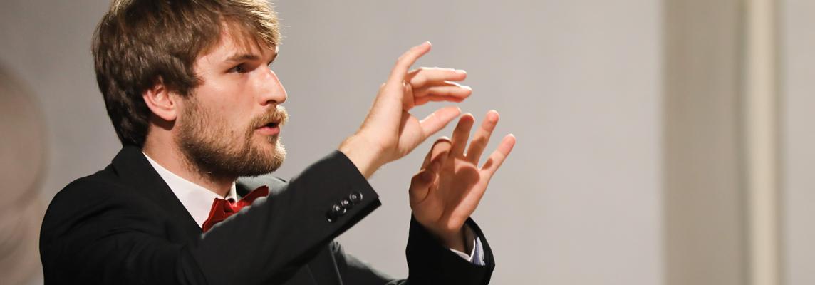 Markus Bauer, Chorleiter des Heinrich-Schütz-Ensembles Vornbach